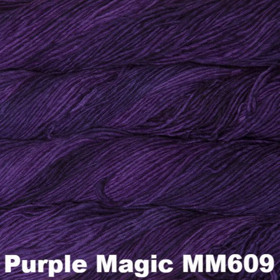 Malabrigo Worsted Yarn Semi-Solids Purple Magic MM609 - 65