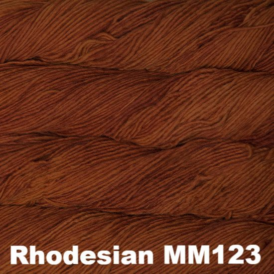 Malabrigo Worsted Yarn Semi-Solids Rhodesian MM123 - 76