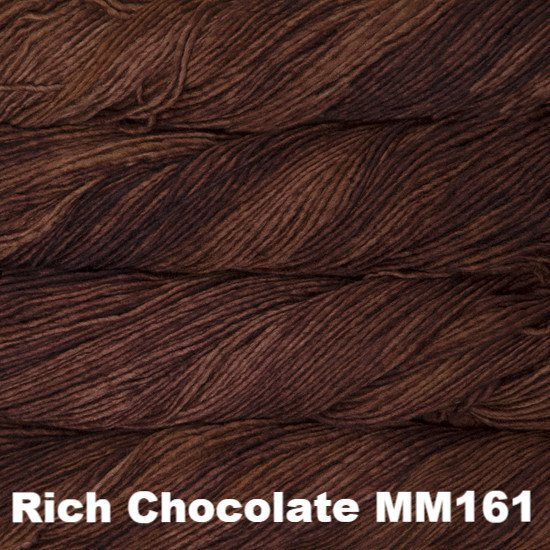 Malabrigo Worsted Yarn Semi-Solids Rich Chocolate MM161 - 82