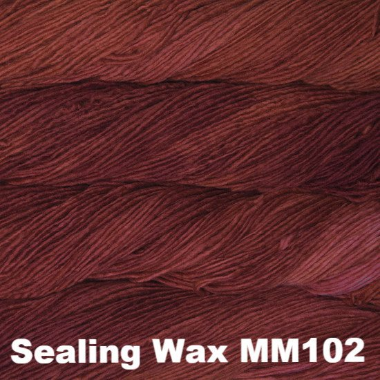 Malabrigo Worsted Yarn Semi-Solids Sealing Wax MM102 - 4