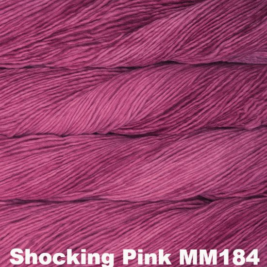 Malabrigo Worsted Yarn Semi-Solids Shocking Pink MM184 - 19