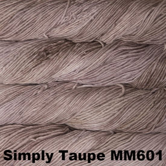 Malabrigo Worsted Yarn Semi-Solids Simply Taupe MM601 - 86