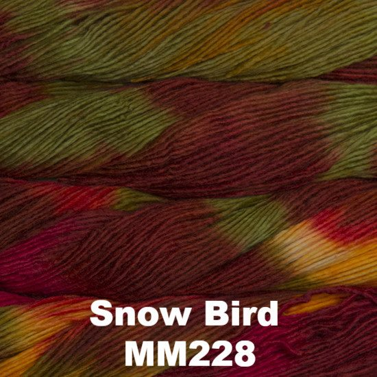 Malabrigo Worsted Yarn Variegated Snow Bird MM228 - 22