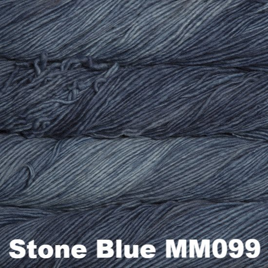 Malabrigo Worsted Yarn Semi-Solids Stone Blue MM099 - 55