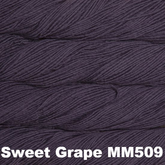 Malabrigo Worsted Yarn Semi-Solids Sweet Grape MM509 - 68