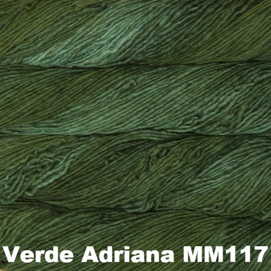 Malabrigo Worsted Yarn Semi-Solids Verde Adriana MM117 - 41