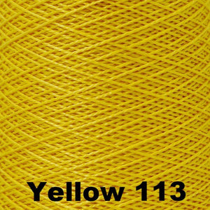 3/2 Mercerized Perle Cotton-Weaving Cones-Yellow 113-