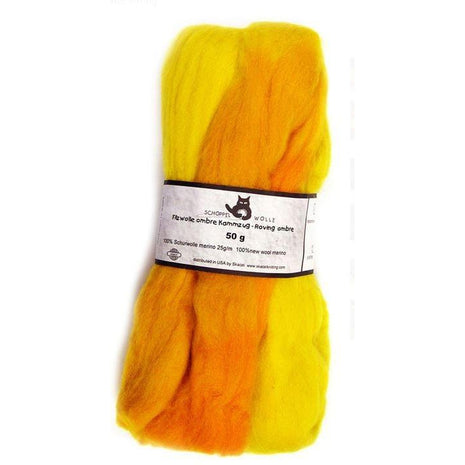 Artfelt Multi Colored Merino Standard Rovings Yellow Orange 1965 - 13