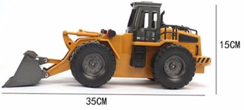 HUINA TOYS1520 6-CHANNEL 1/14 RC METAL BULLDOZER
