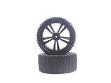 HIMOTO 31309B BLACK BUGGY FRONT TIRES AND RIMS (31211B+31307) 2P