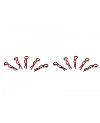 SMALL BODY CLIP 1/10 - METALLIC RED (10)