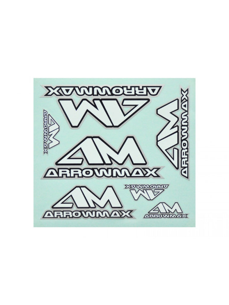 ARROWMAX Decal ( 20 x 22 cm) Black / White / Silver