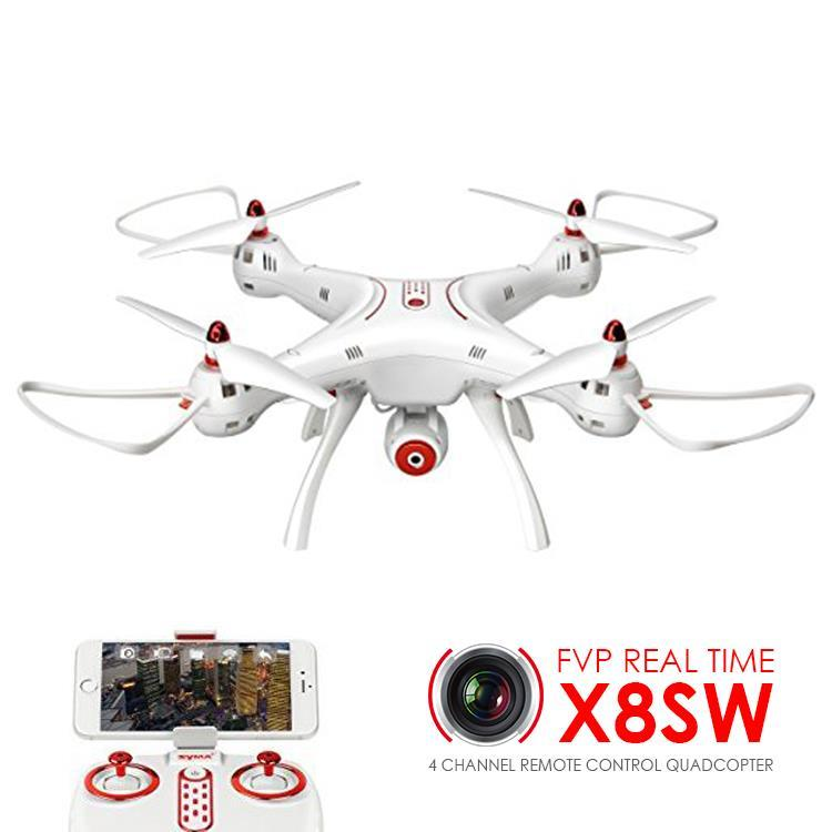 SYMA X8SW WIFI FPV With 720P HD Camera Altitude Hold Mode 2.4G 6Aixs Gyro RC Quadcopter RTF - White