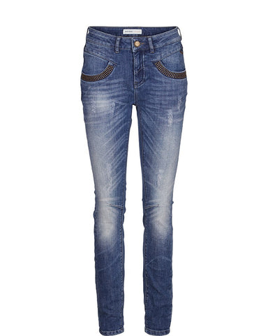Naomi Troks Denim Jeans in Light Blue - The Style Co. London - 1