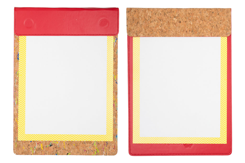 MAGNETIC WRITING PAD - RED & CORK A/4