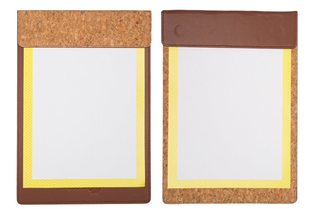 MAGNETIC WRITING PAD - DARK BROWN & CORK A/4