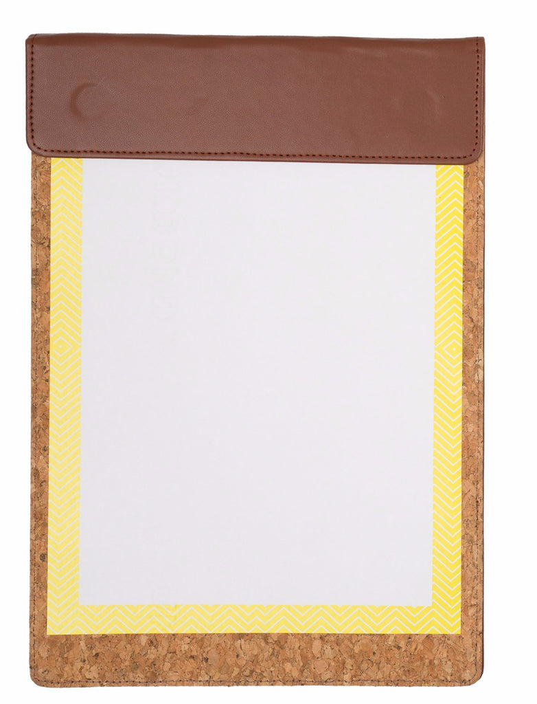 MAGNETIC WRITING PAD - DARK BROWN & CORK A/4 WITH POCKET