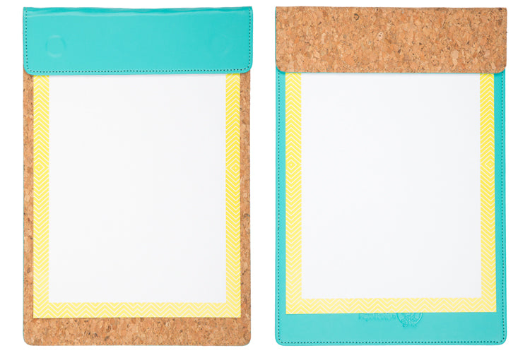 MAGNETIC WRITING PAD - FIROZI GREEN & CORK A/4