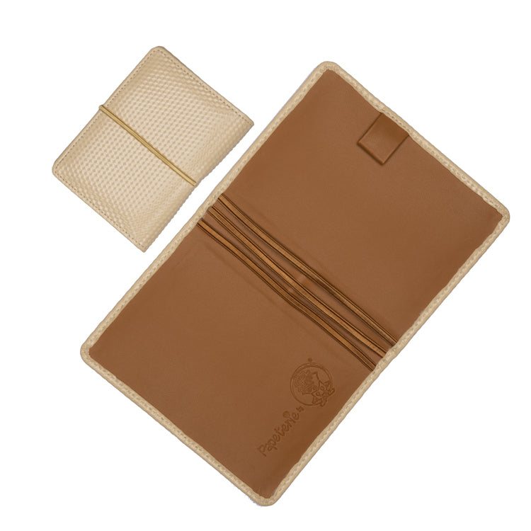 Multiple Passport Holder Beige and Tan