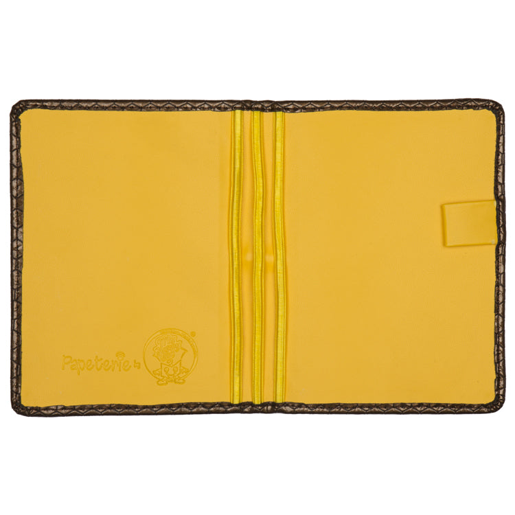 Passport and Book Holder Brown and Yellow