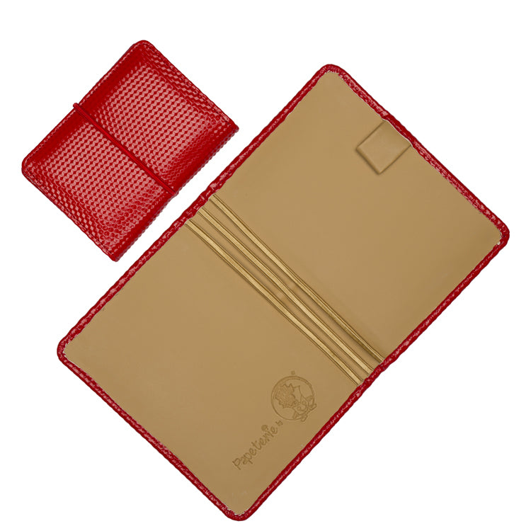 Multiple Passport Holder Red and Beige