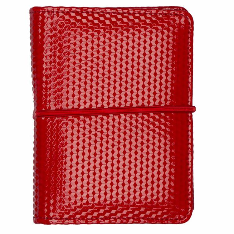 Passport and Book Holder Red and Beige