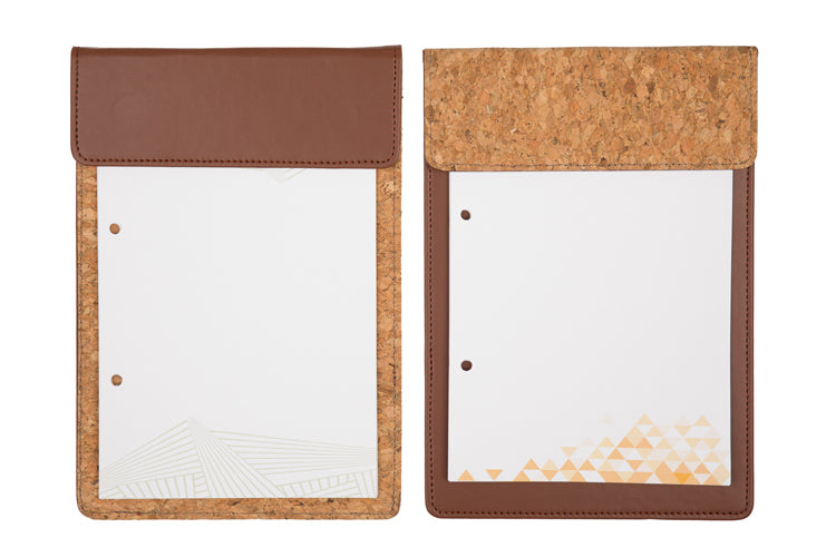 MAGNETIC WRITING PAD - DARK BROWN & CORK A/5