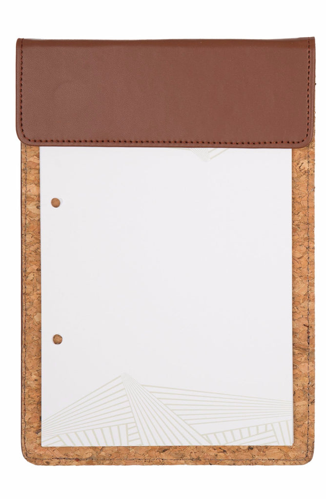 MAGNETIC WRITING PAD - DARK BROWN & CORK A/5 WITH POCKET