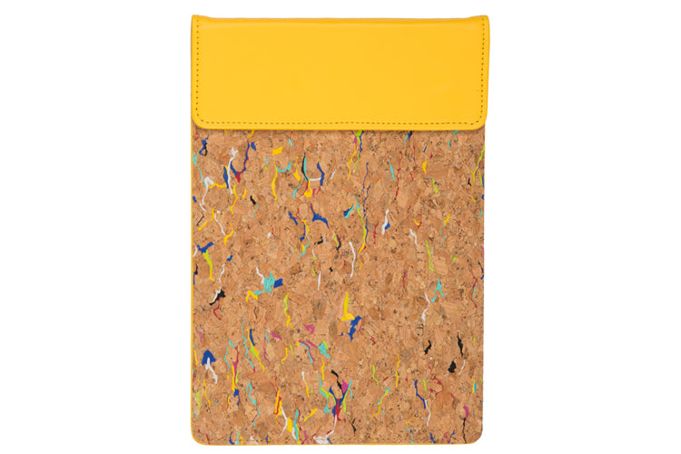 MAGNETIC WRITING PAD - YELLOW & CORK A/5