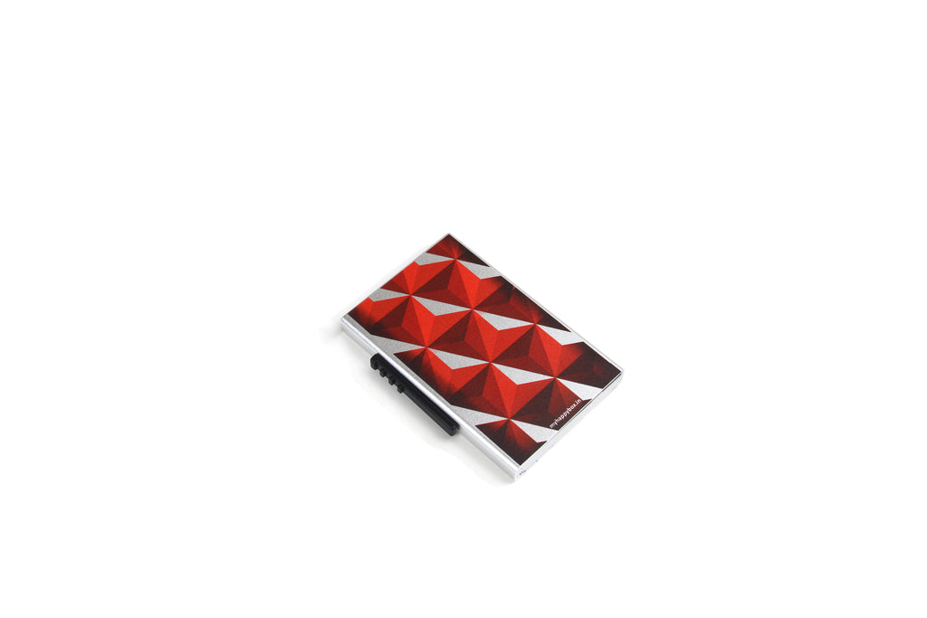 Red And Silver Card Holder ( Side Lever)