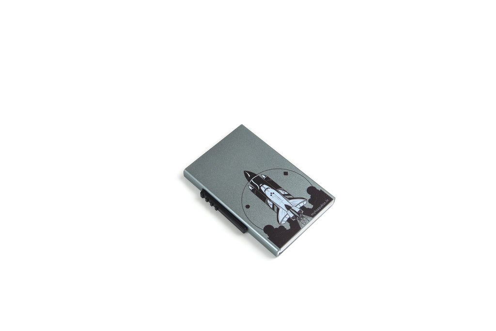 Space Rocket Card Holder ( Side Lever)