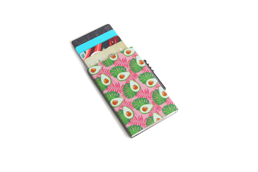 Avocado Card Holder ( Side Lever)