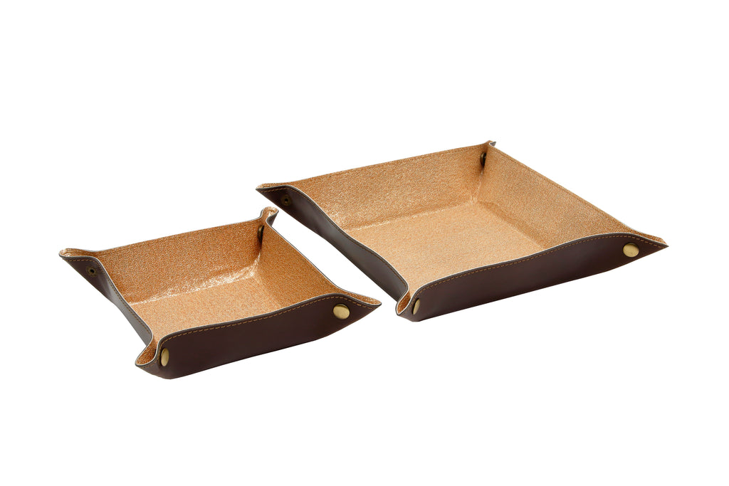 EDC / TRAVEL TRAY Gold and Brown (Small)