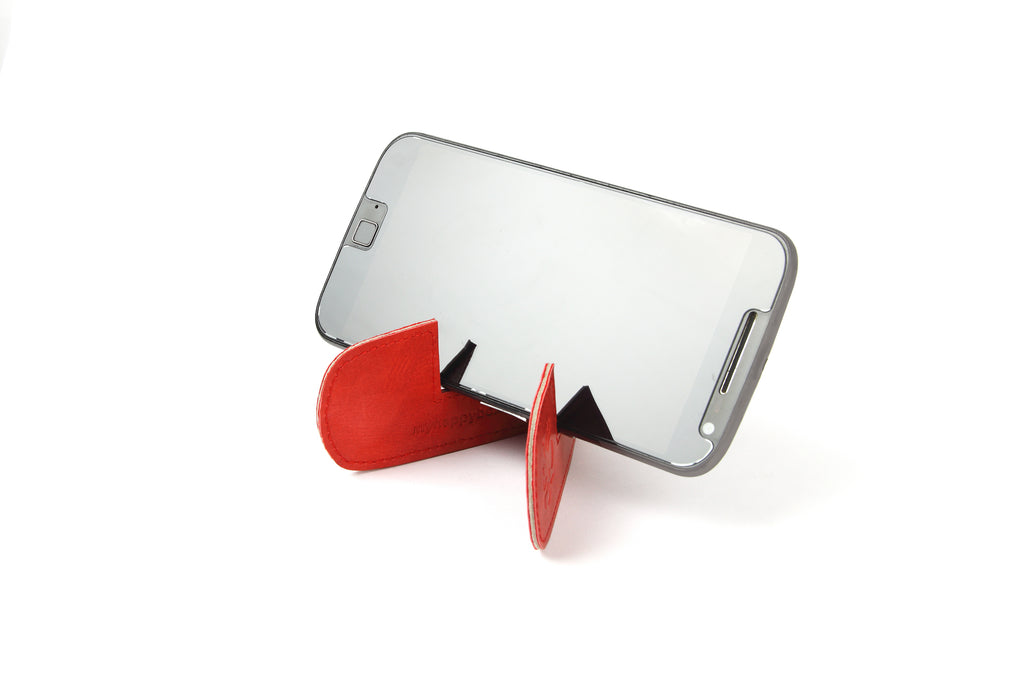 Magnetic bookmark and mobile stand - Red