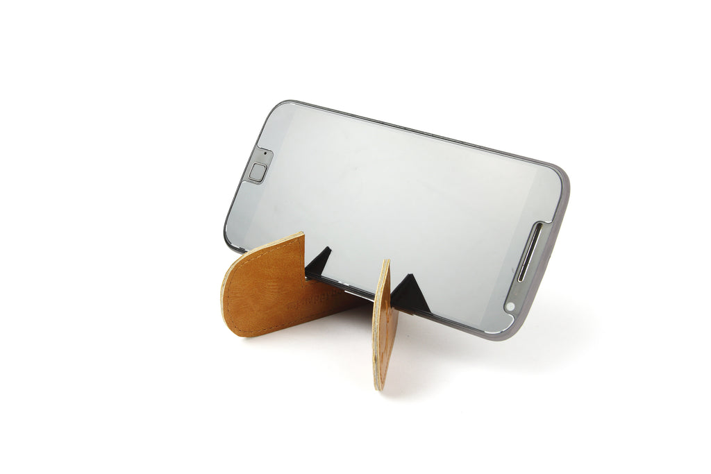 Magnetic bookmark and mobile stand - Tan
