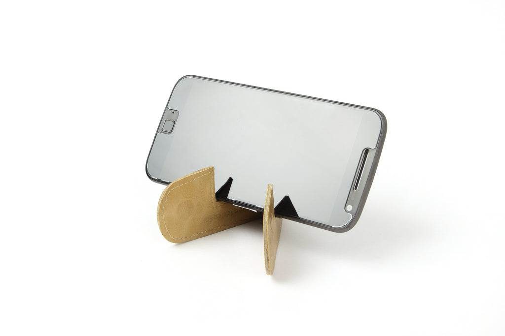 Magnetic bookmark and mobile stand - Beige