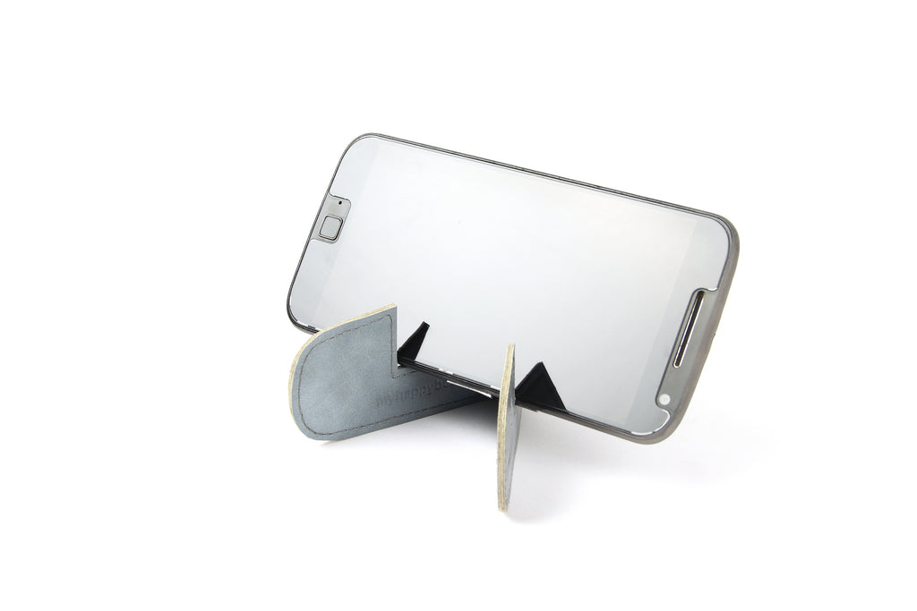 Magnetic bookmark and mobile stand - Light blue