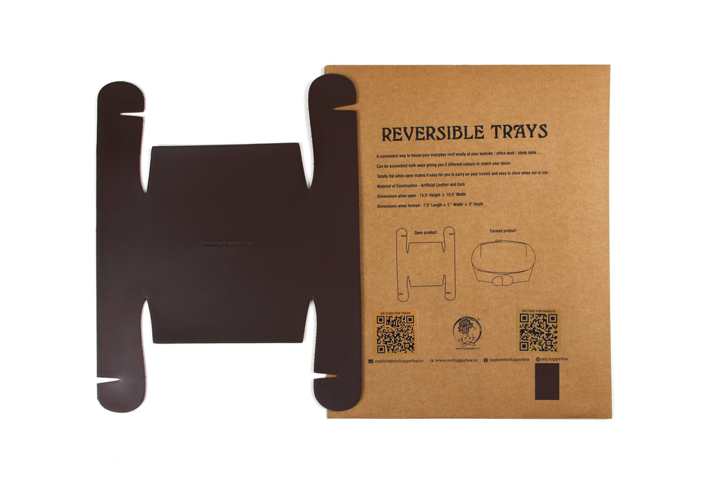 Reversible Trays - Dark brown