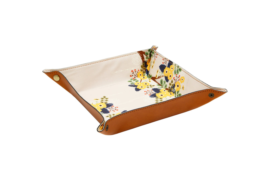 EDC / TRAVEL TRAY Floral and Tan (Small)
