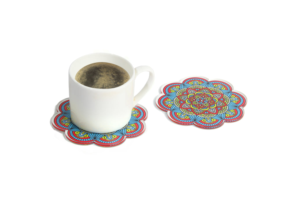 Blue Surprise Tea Coasters