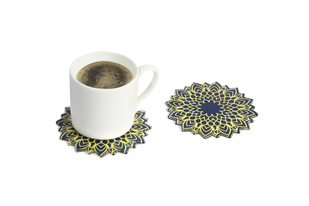 Gold Delight Tea Coasters