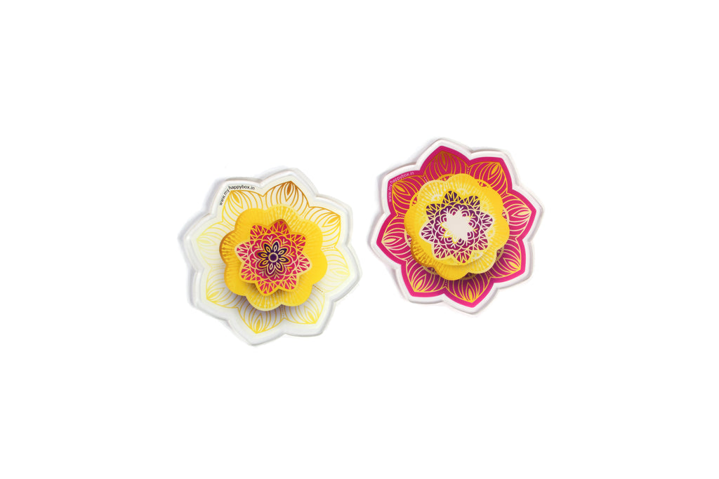 Floral Delight Tea Coasters (Pink and White)