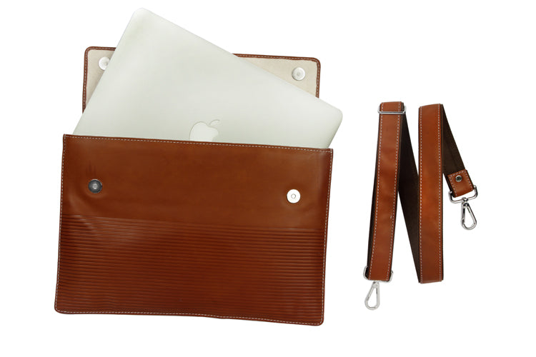 Laptop Sleeves - Stripe Emboss - Tan 15""
