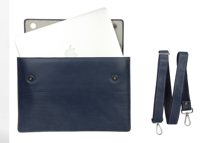 Laptop Sleeves - Stripe Emboss - Royal Blue 13""