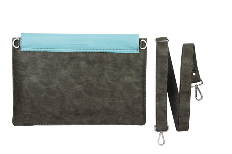 Laptop Sleeves - Zigzag Emboss - Grey and Light Blue 15""