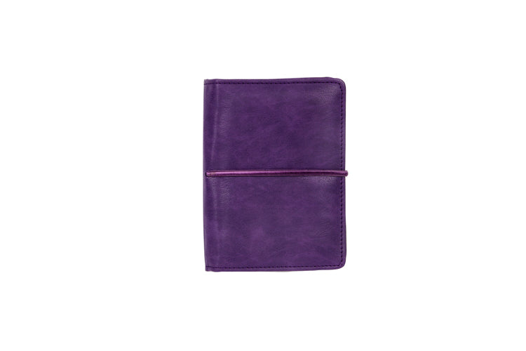 Multiple Passport Holder Purple and Cork
