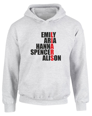 Emily, Aria, Hanna, Spencer, Alison | Kids Hoodie