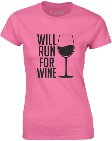 Will Run For Wine | Womens T-Shirt