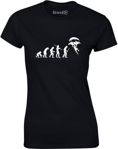 Evolution of Dropping In | Womens T-Shirt