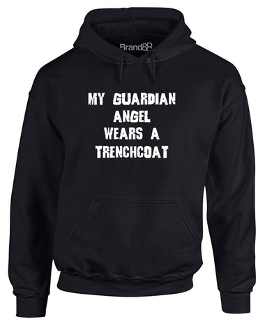 My Guardian Angel Wears A Trenchcoat | Adults Hoodie